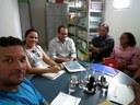 Prefeito Osvaldo Bonfim de Carvalho visita Câmara Municipal de Nazária